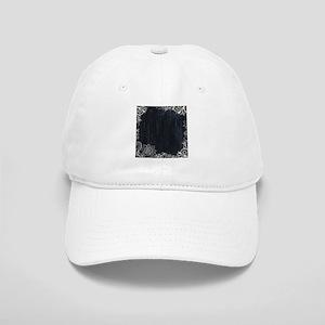 white lace black chalkboard Cap