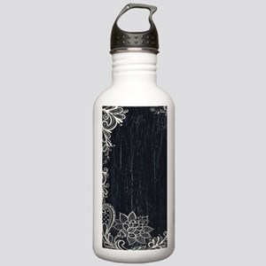 white lace black chalk Stainless Water Bottle 1.0L