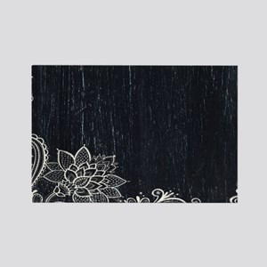 white lace black chalkboard Magnets
