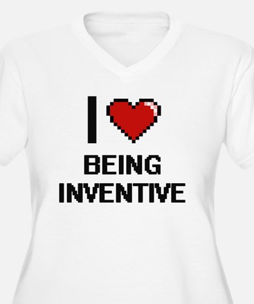 I Love Being Inventive Digitial Plus Size T-Shirt
