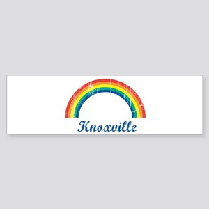 Knoxville (vintage rainbow) Bumper Sticker