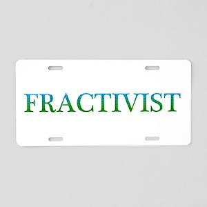 Fractivist Aluminum License Plate