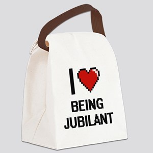 I Love Being Jubilant Digitial De Canvas Lunch Bag