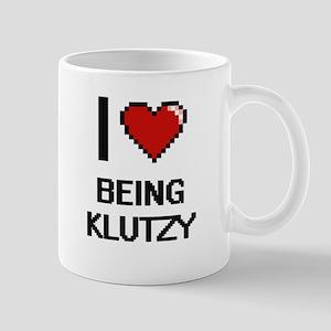 I Love Being Klutzy Digitial Design Mugs