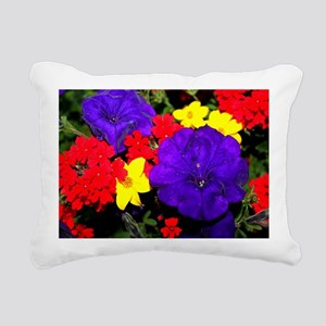 Flowers in primary color Rectangular Canvas Pillow