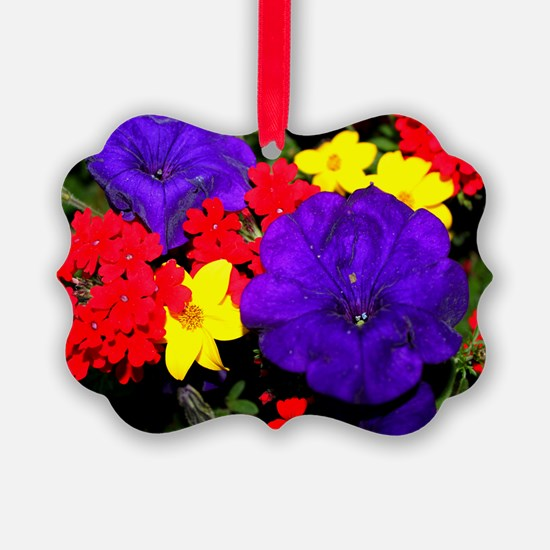 Flowers in primary colors Ornament