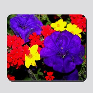 Flowers in primary colors Mousepad