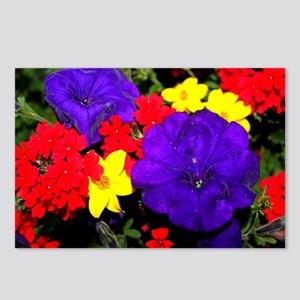 Flowers in primary colors Postcards (Package of 8)