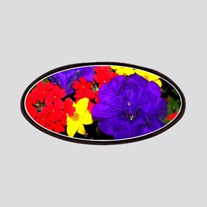 Flowers in primary colors Patch