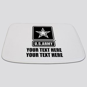 CUSTOM TEXT U.S. Army Bathmat