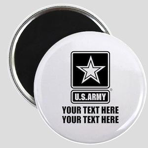 CUSTOM TEXT U.S. Army Magnet