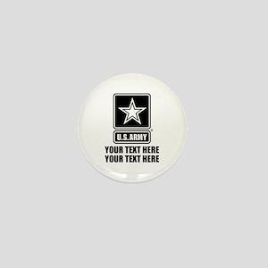 CUSTOM TEXT U.S. Army Mini Button