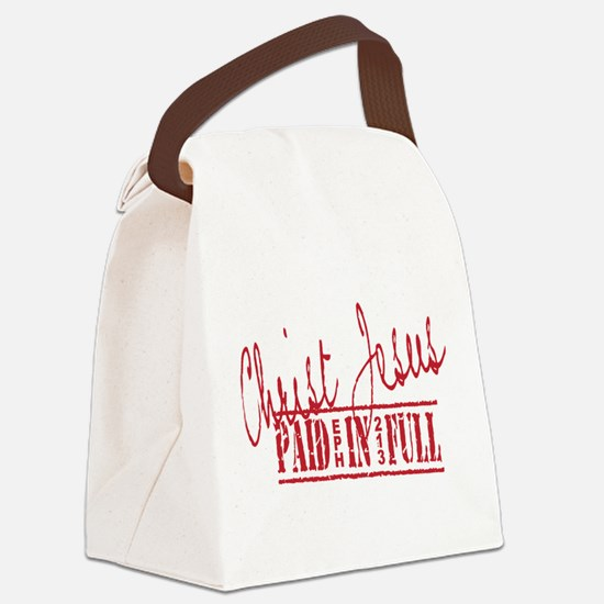 Paid in Full Canvas Lunch Bag