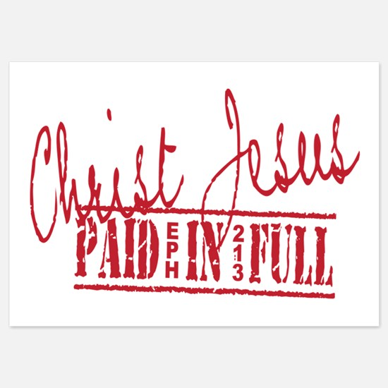 Paid in Full 5x7 Flat Cards