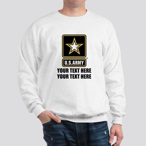 CUSTOM TEXT U.S. Army Sweatshirt