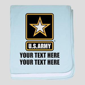 CUSTOM TEXT U.S. Army baby blanket