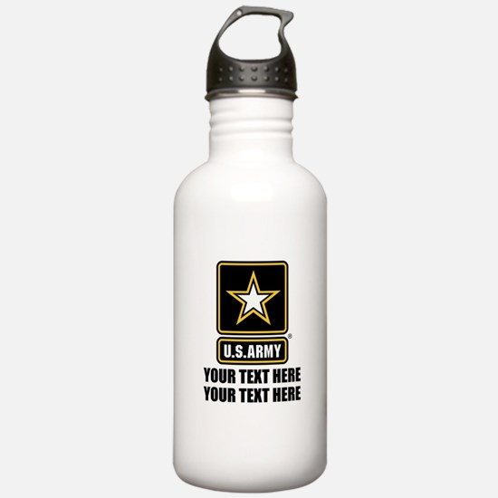 CUSTOM TEXT U.S. Army Water Bottle