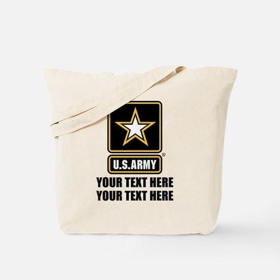 CUSTOM TEXT U.S. Army Tote Bag