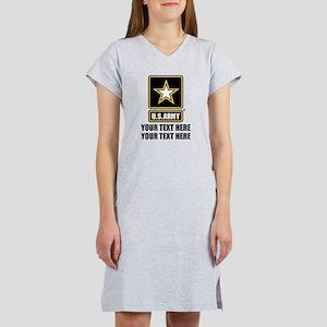 CUSTOM TEXT U.S. Army Women's Nightshirt