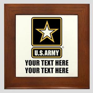 CUSTOM TEXT U.S. Army Framed Tile