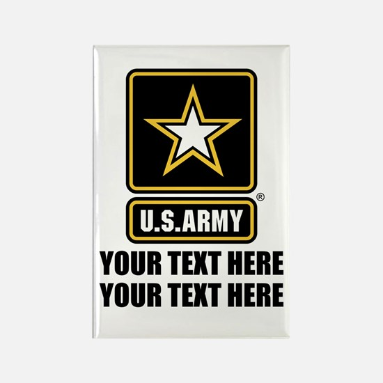 CUSTOM TEXT U.S. Army Rectangle Magnet