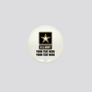 CUSTOM TEXT U.S. Army Mini Button