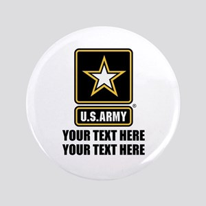 CUSTOM TEXT U.S. Army Button