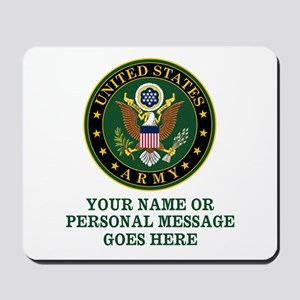 CUSTOM TEXT U.S. Army Mousepad