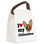 I Love My Chihuahua Canvas Lunch Bag