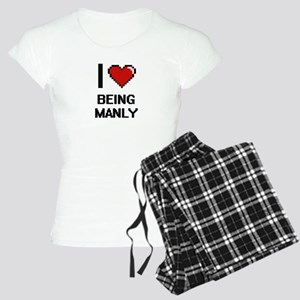 I Love Being Manly Digitial Women's Light Pajamas