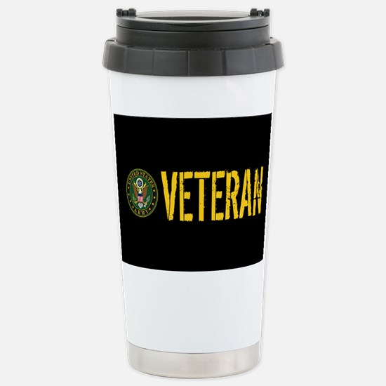 U.S. Army: Veteran Stainless Steel Travel Mug