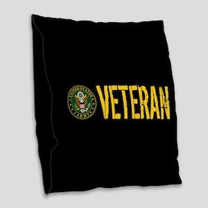 U.S. Army: Veteran Burlap Throw Pillow
