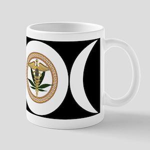 Triple Goddess Medical Marijuan Symbol Mugs