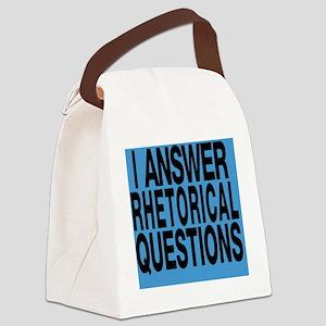Rhetorical Questions Canvas Lunch Bag