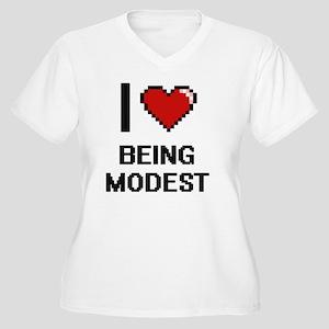 I Love Being Modest Digitial Des Plus Size T-Shirt