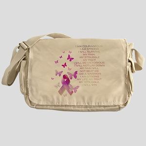 Pink Ribbon, the Fight Messenger Bag