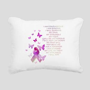 Pink Ribbon, the Fight Rectangular Canvas Pillow