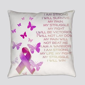 Pink Ribbon, the Fight Everyday Pillow