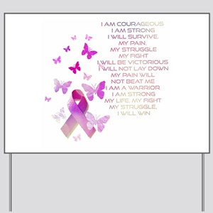 Pink Ribbon, the Fight Yard Sign