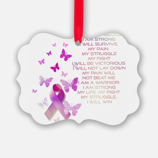 Pink Ribbon, the Fight Ornament