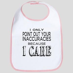 Because I Care Bib