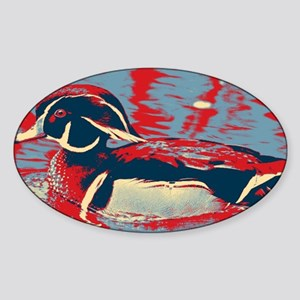 wild lake wood duck Sticker