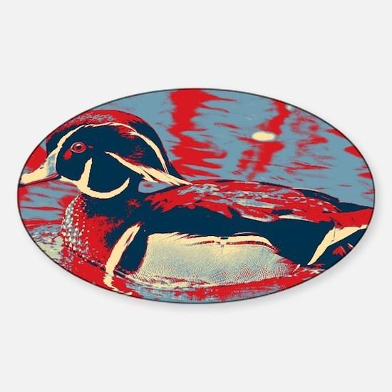 wild lake wood duck Decal