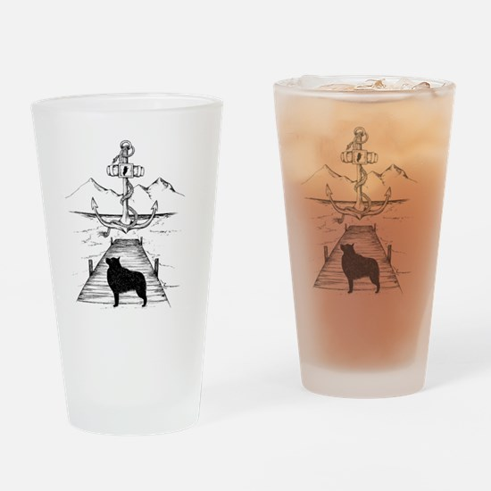 Anniversary Print transparent Drinking Glass