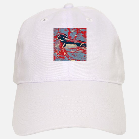 wild lake wood duck Baseball Baseball Cap
