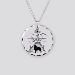 Anniversary Print transparen Necklace Circle Charm