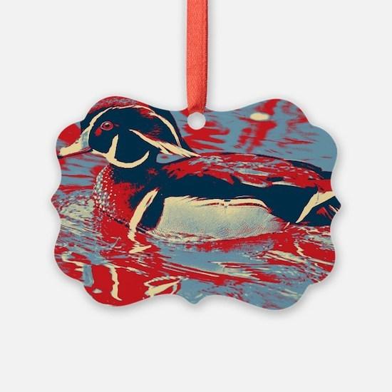 wild lake wood duck Ornament