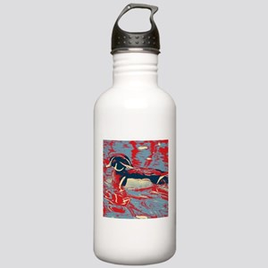 wild lake wood duck Stainless Water Bottle 1.0L