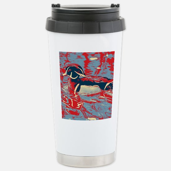 wild lake wood duck Stainless Steel Travel Mug