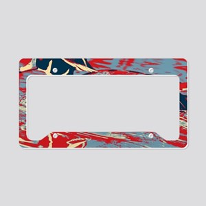 wild lake wood duck License Plate Holder